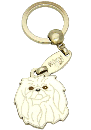 PEKINGESE WHITE - pet ID tag, dog ID tags, pet tags, personalized pet tags MjavHov - engraved pet tags online